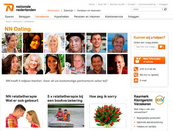 verzekering voor dating websites
